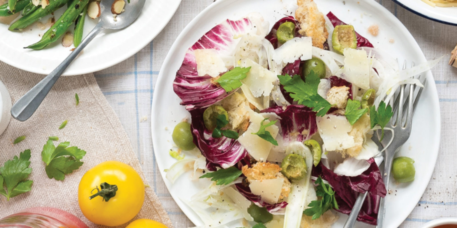 Radicchio, Fennel and Olive Panzanella Salad
