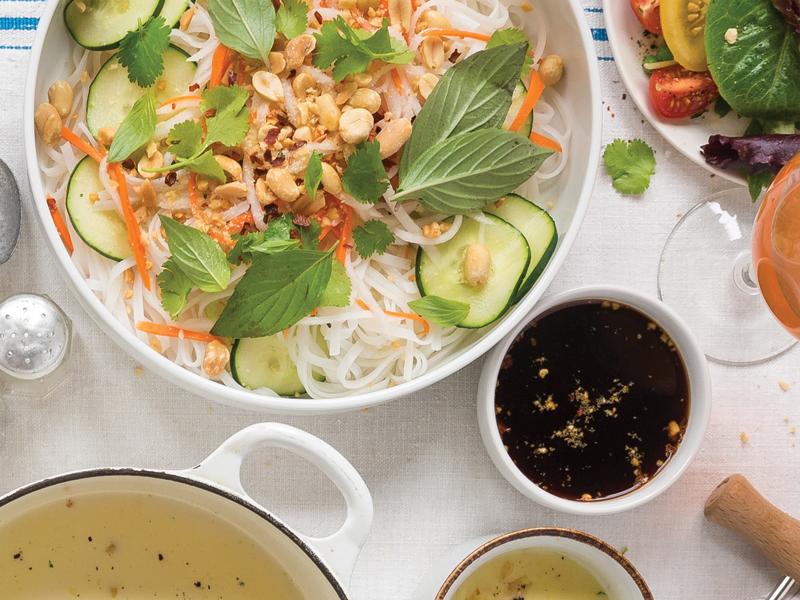 Cold Noodle Salad with pickled vegetables